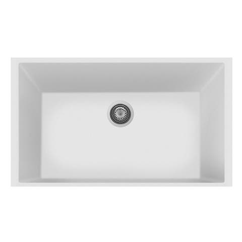 "LaToscana Plados 33"" x 22"" Single Basin Granite Undermount Sink"