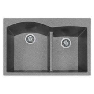 """LaToscana Plados 33"""" x 22"""" Double Basin Granite Drop-In Sink"""