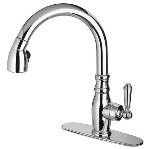 LaToscana Old-Fashioned Single Handle Pull-Down Spray Kitchen Faucet