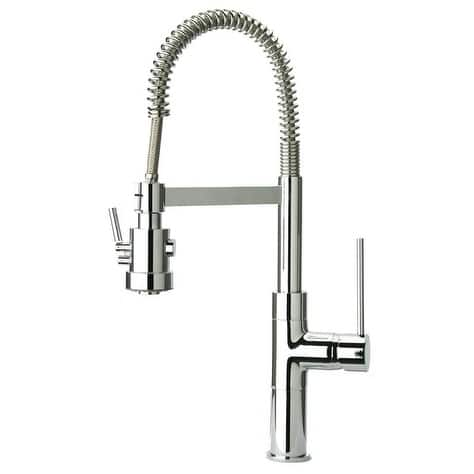 Handmade Mini Marilyn Single Handle Pull-Out Spray Kitchen Faucet