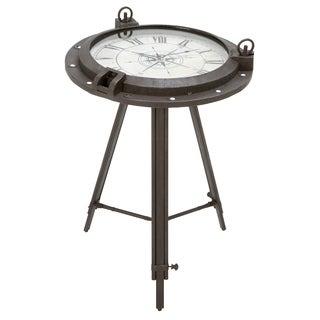Urban Designs Industrial Metal Round Clock Coffee Table