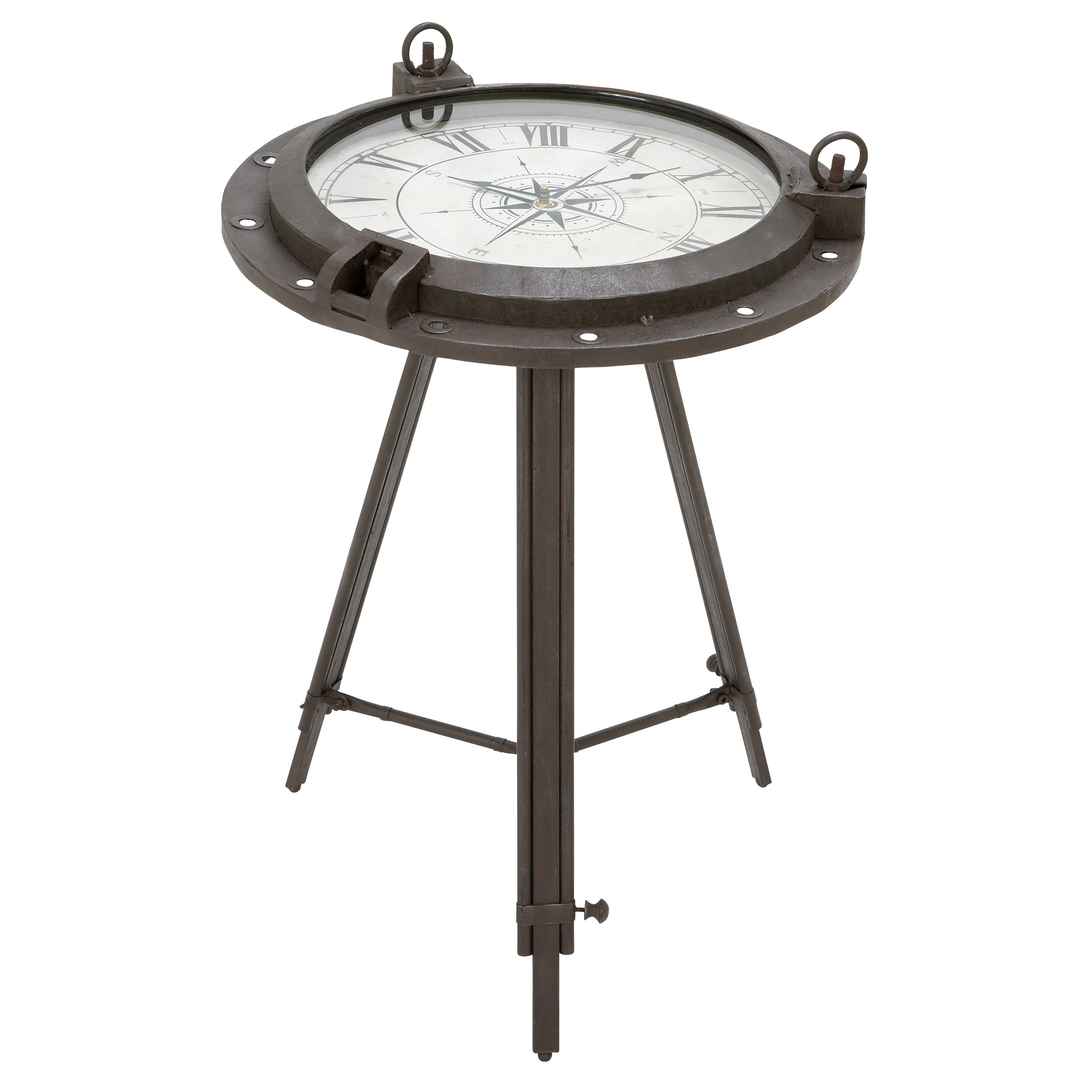 - Shop Industrial Metal Round Clock Coffee Table - On Sale