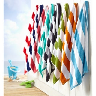 Link to 100% Cotton Cabana Stripe Oversize Velour Beach Towel Similar Items in Towels