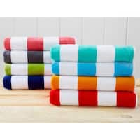 100% Cotton Cabana Stripe Velour Beach Towel