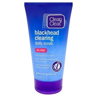 Clean & Clear Blackhead Clearing Daily Scrub, Oil-Free, 150 ml (5.07 oz) (3 options available)