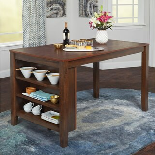 Simple Living Keaton Counter Height Dining Table with Storage - N/A