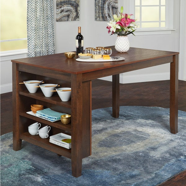 Shop Simple Living Keaton Counter Height Dining Table with ...