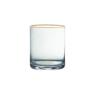 "vivienne blue/gold set/4 old fashio glasses 3.15x3.86"""