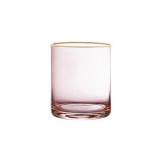 """vivienne pink/goldset/4 old fashion glasses 3.15x3.86"""""""