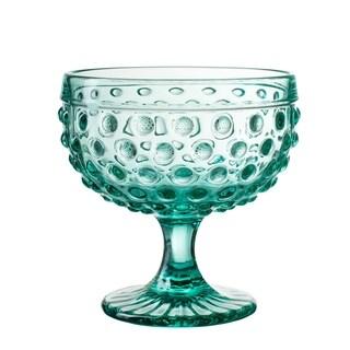 bistro dot green s/4 pedestal bowls