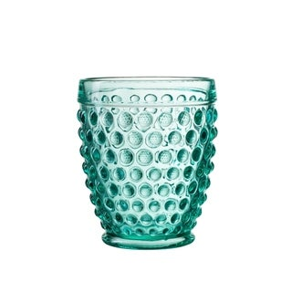 bistro dot green s/4 old fashion glasses