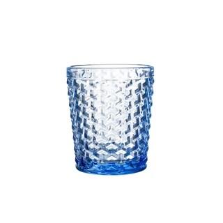bistro weave blue s/4 old glasses