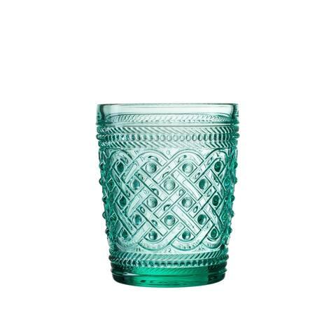 bistro ikat green s/4 old fashio glasses