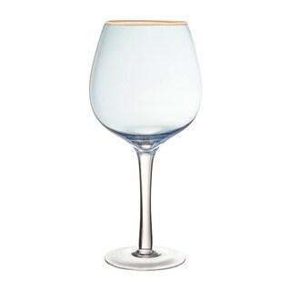 """vivienne blue/gold set/4 red wine goblets 4.13x8.66"""""""
