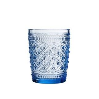 bistro ikat blue s/4 old fashion glasses