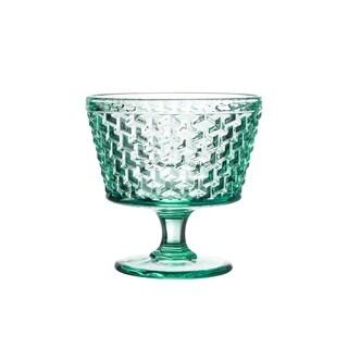 bistro weave green s/4 pedestal bowls