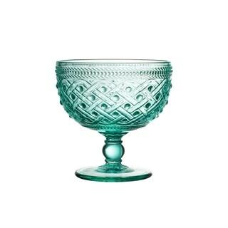 bistro ikat green s/4 pedestal bowls