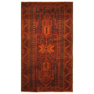 Handmade One-of-a-Kind Balouchi Wool Rug (Afghanistan) - 3'5 x 5'10