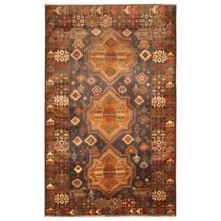 Handmade Herat Oriental Afghan Hand-knotted Tribal Balouchi Wool Rug (Afghanistan) - 3'10 x 6'2