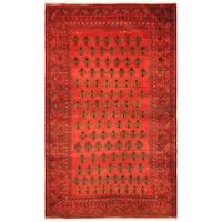 Handmade Herat Oriental Afghan Hand-knotted Tribal Balouchi Wool Rug (Afghanistan) - 3'8 x 6'10