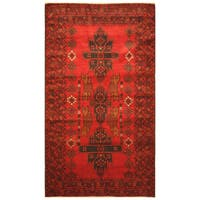 Handmade Herat Oriental Afghan Hand-knotted Tribal Balouchi Wool Rug (Afghanistan) - 3'9 x 6'10