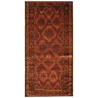 Handmade Herat Oriental Afghan Hand-knotted Tribal Balouchi Wool Rug (Afghanistan) - 3'8 x 7'4