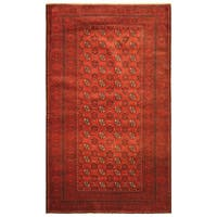 Handmade Herat Oriental Afghan Hand-knotted Tribal Balouchi Wool Rug - 3'8 x 6'3