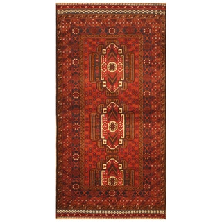 Handmade One-of-a-Kind Balouchi Wool Rug (Afghanistan) - 3'7 x 6'10