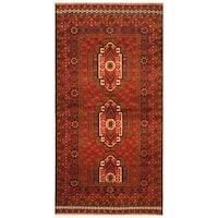 Handmade Herat Oriental Afghan Hand-knotted Tribal Balouchi Wool Rug (Afghanistan) - 3'7 x 6'10