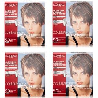 L'Oreal Paris Couleur Experte Express Hair Color + Highlights, Permanent 5.0 Natural Caramel Glaze Medium Brown