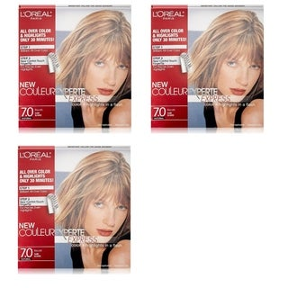 L'Oreal Paris Couleur Experte Express Hair Color + Highlights, Permanent. 7.0 Natural Biscotti Dark Blonde