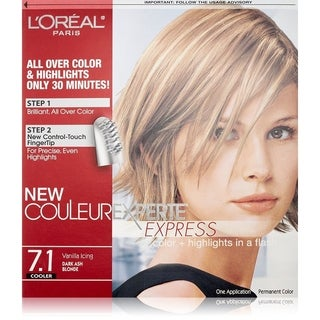 L'Oreal Paris Couleur Experte Express Hair Color + Highlights, Permanent 7.1 Cooler Vanilla Icing Dark Ash Blonde