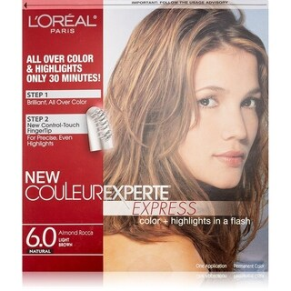 L'Oreal Paris Couleur Experte Express Hair Color + Highlights, Permanent. 6.0 Natural Almond Rocca Light Brown