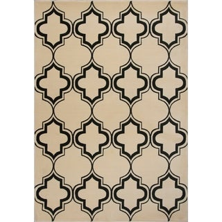 Corinthian Ivory/Black Arabesque - 2'3 x 3'3