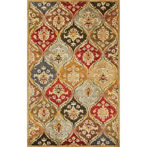 Syriana Jeweltone Panel Rug