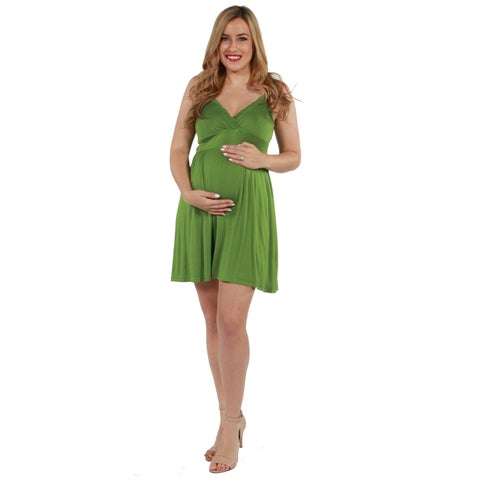 24seven Comfort Apparel Skylar Maternity Dress