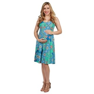 24seven Comfort Apparel Lyric Maternity Dress