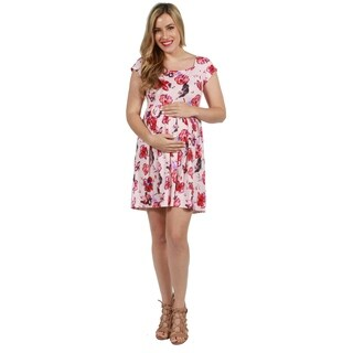 24seven Comfort Apparel Morgan Maternity Dress