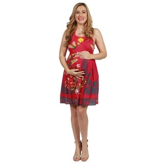 24seven Comfort Apparel Harlow Maternity Dress