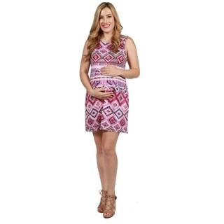 24seven Comfort Apparel Piper Maternity Dress