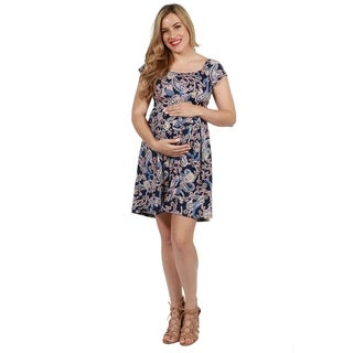 24seven Comfort Apparel Lucy Maternity Dress