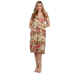 24seven Comfort Apparel Celia Maternity Dress
