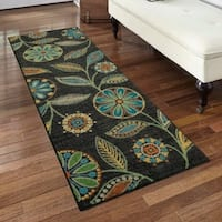 Maples Rugs Whitby Gray Floral Runner Rug - Multi - 2'x6'