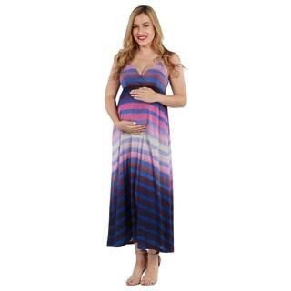 24seven Comfort Apparel Jera Maternity Maxi Dress