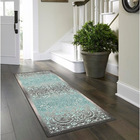 Maples Rugs Distressed Dover Runner Rug (2'x6') - 2'x6'