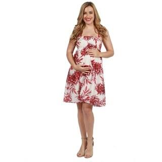 24seven Comfort Apparel Rena Maternity Dress