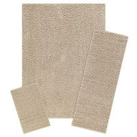 "Maples Rugs Jayme Solid Shag 3-Piece Area Rug Set (2'6""x3'10"", 2'x6', & 5'x7') - 3-Piece Set"