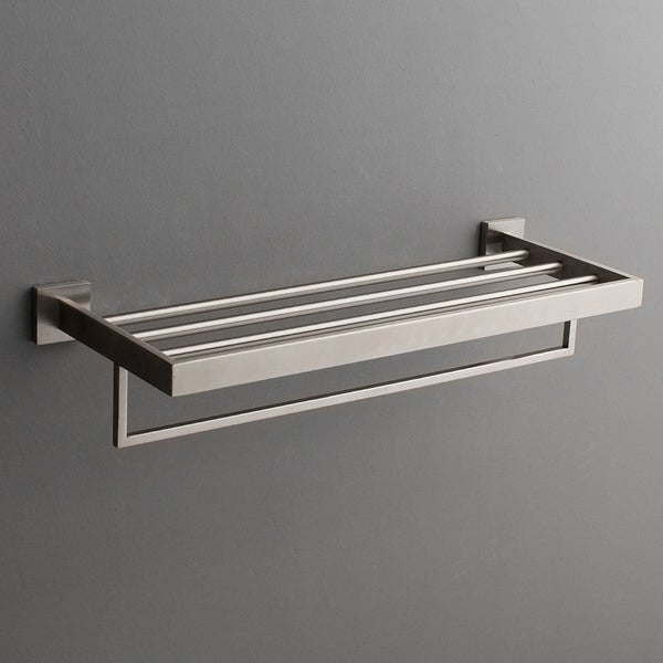 Shop Maykke TriBeCa Wall Mounted Towel Rack Shelf - Free Shipping ...
