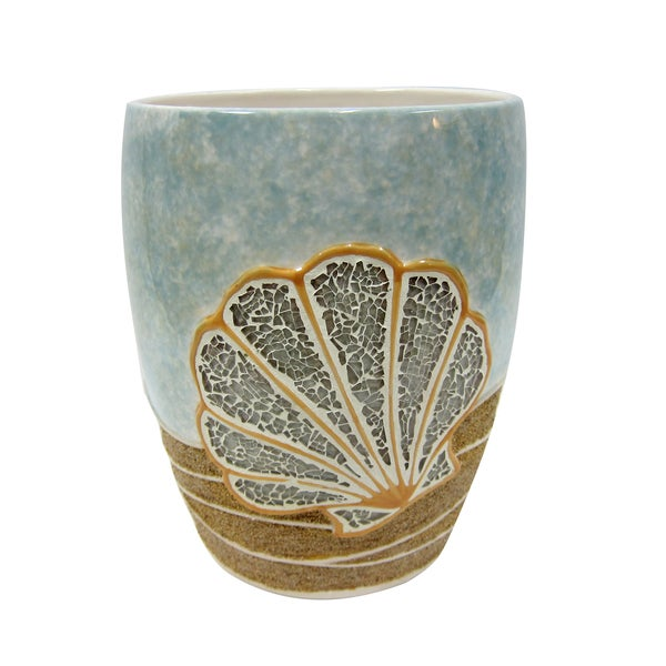 Croscill Mosaic Shells Wastebasket