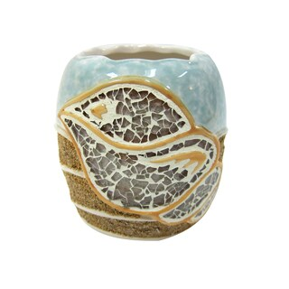 Croscill Mosaic Shell Toothbrush Holder